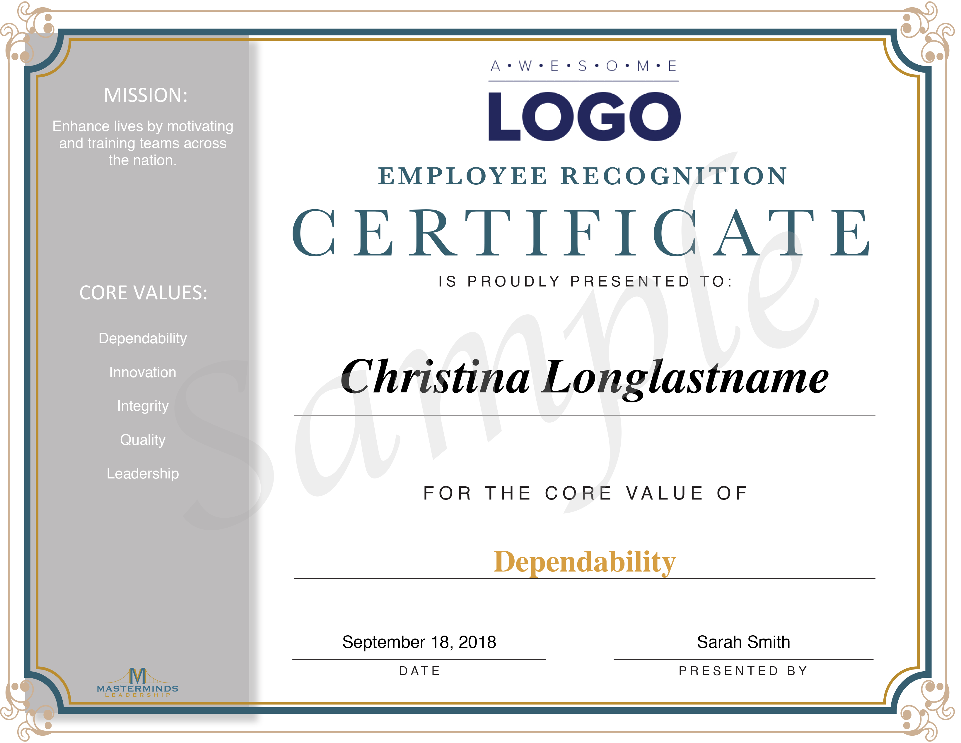 Sample Of Employment Certificate from mastermindsleadership.com